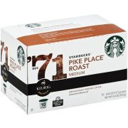 Starbucks Pike Place K Cup Medium Roast Ground Coffee, 10 count per pack -- 6 per case
