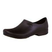 Sticky Shoes Man Style Black Clogs, Size 9.5  -- 1 pair