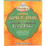 Mr. Kooks Zesty Tikka Indian Spice Rub Seasoning, 1.23 Ounce -- 6 per case