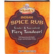 Mr. Kooks Fiery Tandoori Indian Spice Rub Seasoning, 1.23 Ounce -- 6 per case