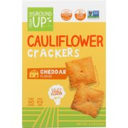 From the Ground Up Cheddar Cauliflower Crackers, 4 Ounce -- 6 per case