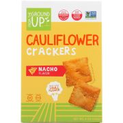 From The Ground Up Nacho Flavor Cauliflower Crackers, 4 Ounce -- 6 per case
