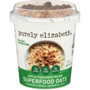 Purely Elizabeth Apple Cinnamon Pecan Superfood Oats, 2 Ounce -- 12 per case