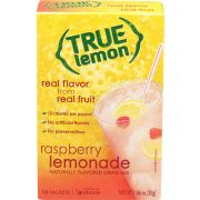 True Lemon Raspberry Lemonade Naturally Flavored Drink Mix, 10 count per pack -- 12 per case