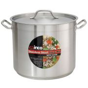 Winco Premium Stainless Steel Stock Pot with Cover, 12 Quart -- 1 set.