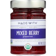 Made With Organic Mixed Berry Preserve, 11 Ounce -- 6 per case