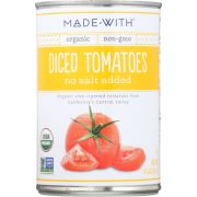 Made With Organic No Salted Diced Tomato, 14.5 Ounce -- 12 per case