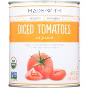Made With Organic Diced Tomato in Juice, 28 Ounce -- 12 per case