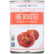 Made With Organic Fire Roasted Diced Tomatoes, 14.5 Ounce -- 12 per case