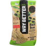 Way Better Roasted Garlic and Black Beans Tortilla Chips, 11 Ounce -- 9 per case