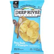 Deep River Sea Salt and Vinegar Kettle Cooked Potato Chips, 8 Ounce -- 12 per case