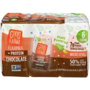 Good Karma Protein Chocolate Flax Milk, 6 count per pack -- 3 per case