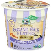 Bakery on Main Organic Oats and Happiness Almond Vanilla Oatmeal Cup, 1.9 Ounce -- 12 per case