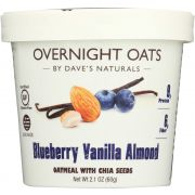 Daves Gourmet Blueberry Vanilla Almond Overnight Oats, 2.1 Ounce Cup -- 8 per case