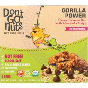 Dont Go Nuts Organic Gorilla Power Chewy Granola Bar, 6.3 Ounce -- 6 per case