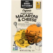 Good Citizens Organic Whole Wheat Macaroni and Cheese Dinner, 6 Ounce -- 12 per case
