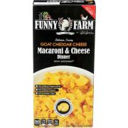 Funny Farm Goat Cheddar Cheese Macaroni and Cheese Dinner, 6 Ounce -- 8 per case