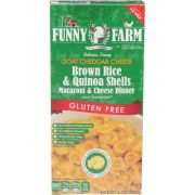 Funny Farm Goat Cheese with Brown Rice and Quinoa Shells Macaroni and Cheese Dinner, 6 Ounce -- 12 per case