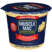 Muscle Mac Aged Sharp White Cheddar Macaroni and Cheese, 3.6 Ounce -- 12 per case