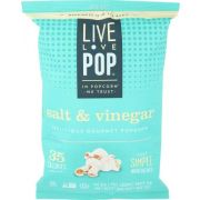Live Love Pop Salt and Vinegar Popcorn, 4.4 Ounce -- 12 per case