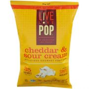Live Love Pop Cheddar and Sour Cream Popcorn, 4.4 Ounce -- 12 per case