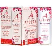 Aspire Raspberry Plus Acai Energy Drink, 4 count per pack -- 6 per case