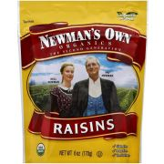 Newmans Own Organic Raisins, 6 Ounce Zip Bag -- 12 per case