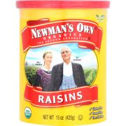 Newmans Own Organic Raisins, 15 Ounce Can -- 12 per case