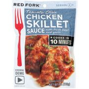 Red Fork Tomato Olive Chicken Skillet Sauce, 8 Ounce -- 6 per case