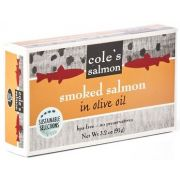 Coles Smoked Salmon in Olive Oil, 3.2 Ounce -- 10 per case