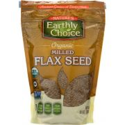 Natures Earthly Choice Organic Milled Flax Seed, 10 Ounce -- 6 per case