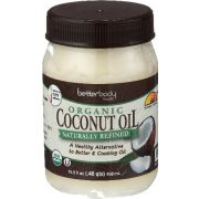 Betterbody Organic Naturally Refined Coconut Oil, 15.5 Ounce -- 6 per case