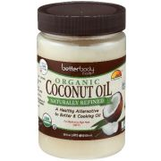 Betterbody Organic Naturally Refined Coconut Oil, 28 Ounce -- 6 per case