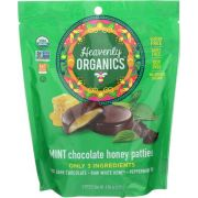 Heavenly Organic Mint Chocolate Honey Patties Candy, 4.66 Ounce Bag -- 6 per case