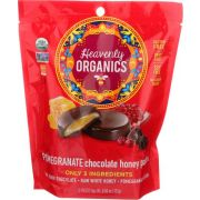 Heavenly Organic Pomegranate Chocolate Honey Patties Candy, 4.66 Ounce Bag -- 6 per case