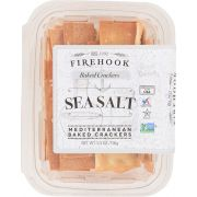 Firehook Sea Salt Mediterranean Baked Crackers, 5.5 Ounce Snack Box -- 8 per case