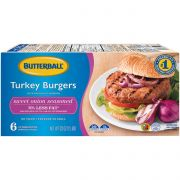 Butterball Sweet Onion Turkey Burger, 5.33 ounce -- 54 per case