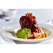 Bonewerks Culinarte Braised Balsamic Barbecue Pork Shank Meat - Fully Cooked -- 12 per case.