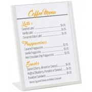 Cal Mil Clear Acrylic Deluxe Card Holder, 4 x 1 x 6 inch -- 12 per case.