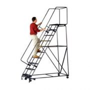 Ballymore Tough M-2000 Series Rolling Safety Ladder - 8 Step, 32 x 61 inch -- 1 each.
