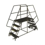 Ballymore Tough Welded Steel Double Entry Mobile Work Platform - 3 Step, 48 x 30 x 24 inch -- 1 each.
