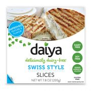 Daiya Swiss Style Cheese Slice, 7.8 Ounce -- 8 per case