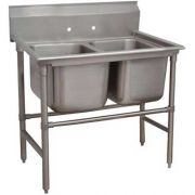 Spec-line 940 Series Stainless Steel Regaline Sink, with 2 Compartment, No Drain Board.Overall Length 52 inch -- 1 each.