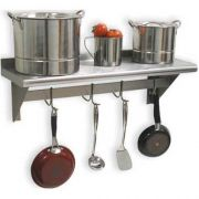 Stainless Steel Adjustabe Mid Mount Self, 12 x 108 inch -- 1 each.