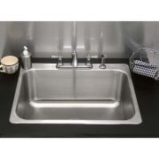 Advance Tabco Single Bowl Self Rimming Drop-In Bar Sink - 304 Stainless Steel, 18 Gauge, Bowl Size: 10 x 14 x 5 inch -- 1 each.