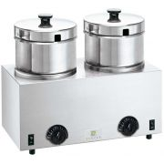 Server FS-4 Plus Twin Soup Warmer with Euro Plug, 4.7 Liter -- 1 each