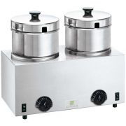 Server FS-4 Plus Twin Soup Warmer with Aust Plug, 4.7 Liter -- 1 each
