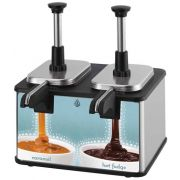 Server Twin EZ-Topper Short Pouched Topping Warmer with Heated Spout, 120 Volt -- 1 each