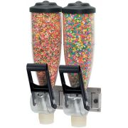 Server Double Dry Food and Candy Dispenser, 2 Liter Capacity -- 1 each