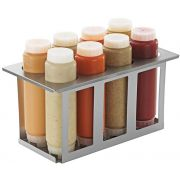 Server FIFO Stainless Steel 1/3 Size 8 Squeeze Bottle Holder, 8 9/16 x 12 7/8 x 7 inch -- 1 each